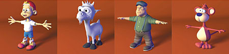 comic characters v2 3d model - DOSCH 3D - Comic Characters V2... by Dosch Design
