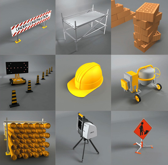 construction sites dosch 3d 3ds - DOSCH 3D - Construction Site... by Dosch Design