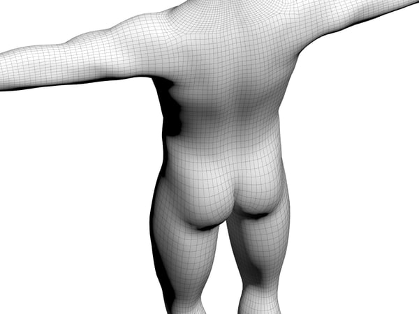 3d model of body - Male 3d Model... by boogie66