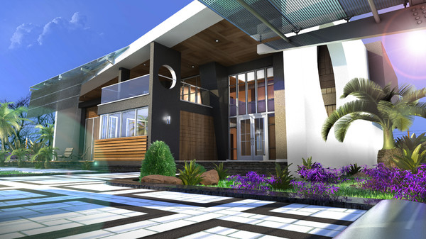 3d scene modern building house - Modern Home (2)... by solarseas
