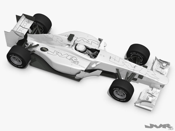 3d generic f1 race car - Generic F1 2012 Race Car... by jvr3D