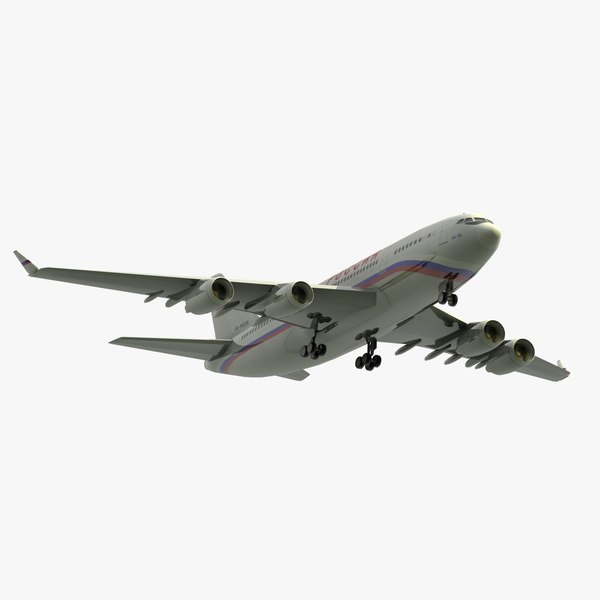 3d model of il96-300 rossiya