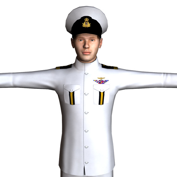 3d model navy male 01 - Navy Male 01... by ignisfatuus
