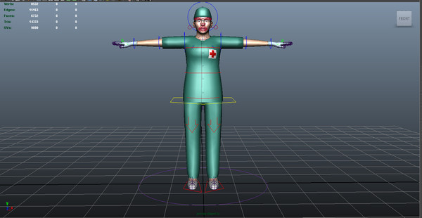maya surgeon female 02 - Surgeon Female 02... by ignisfatuus