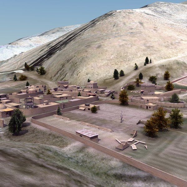 3d model afghan urban towns villages - Afghanistan Urban Collection... by ES3DStudios