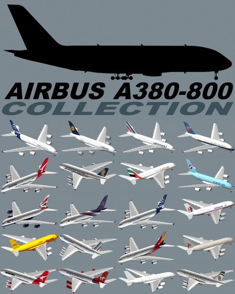3d model airbus a380-800 - Airbus A380 Collection... by PedroFaut