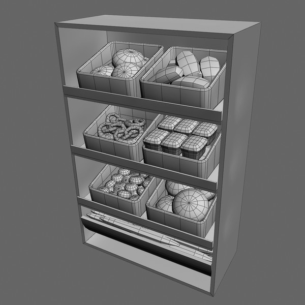 display bread 3d max - Bread Shelves 3d model... by 3dcochise