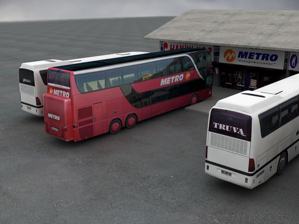 buses station bus 3d model - Buses and Station... by Mertcan0403