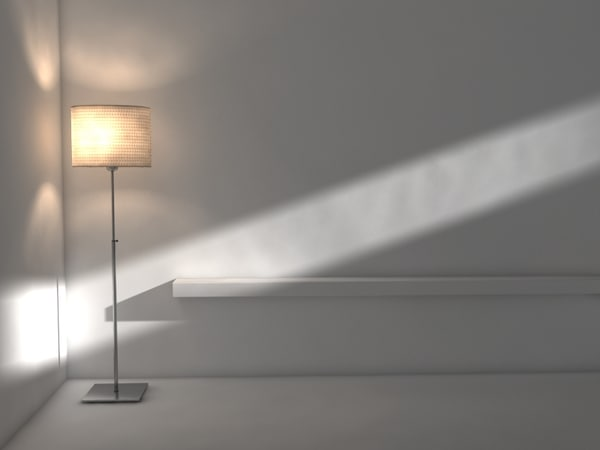 3d model ikea floor lamp