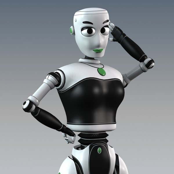 stella female rigged 3d model - Stella Female Robot Rigged... by shank3d