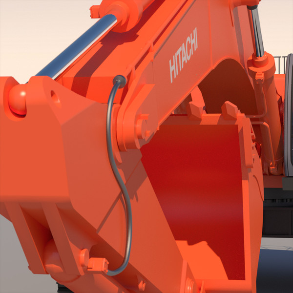 backhoe excavator 3d 3ds - Hitachi Zaxis 800... by ArqArt3D
