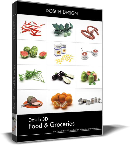 3d vegetable fruit meals - DOSCH 3D - Food & Groceries... by Dosch Design