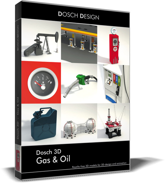 3d model of gas oil - DOSCH 3D - Gas & Oil... by Dosch Design
