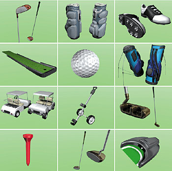 3d model of golf equipment - DOSCH 3D - Golf Equipment... by Dosch Design