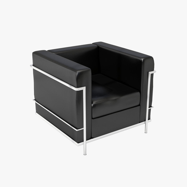 3ds max le corbusier lc2 2 - Chair 00... by Lajhar