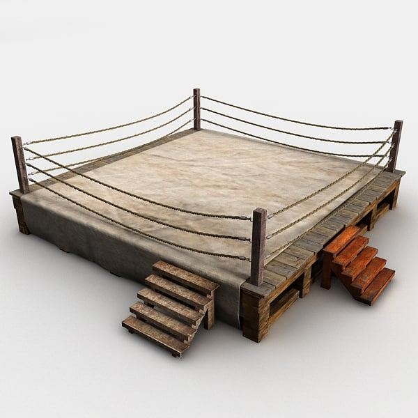 3d model old boxing ring - Old Boxing Ring... by Litarvan