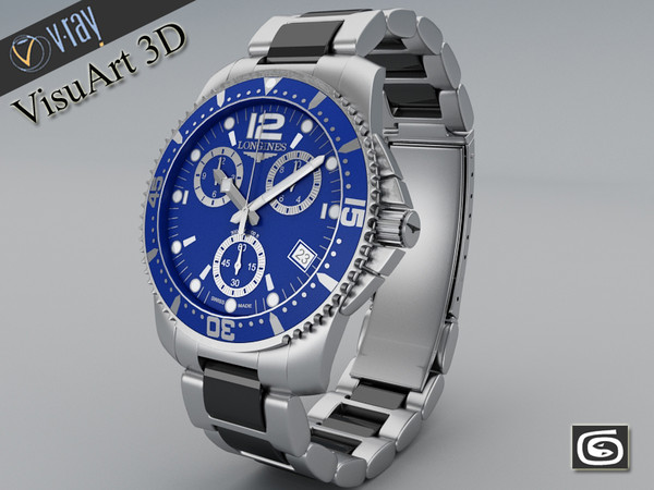 watch longines conquest 3ds - Watch Longines Hydroconquest... by VisuArt3D