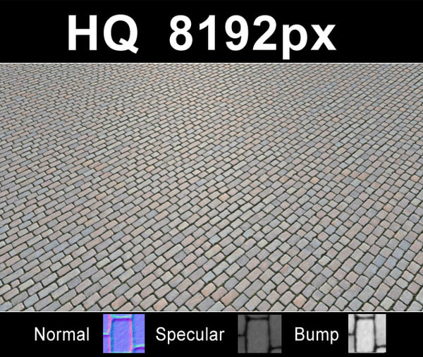 Pavers Pack 001 - Hi Res Set