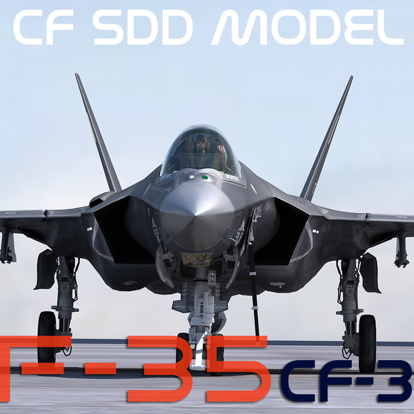 3d f-35 cf-3 pilot model - US NAVY F-35 CF-3 Lightning II with pilot... by Camelot Inc