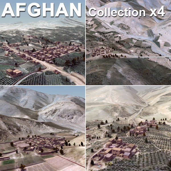 3d model afghan urban towns villages