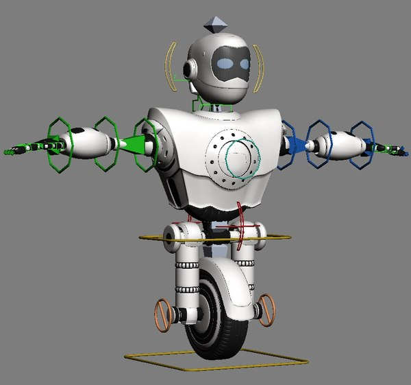 unibot male rigged 3d max - UniBot Male Robot Rigged... by shank3d
