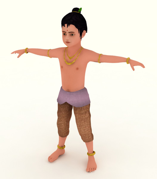 character indian boy 3d model - indiaboy... by bariacg