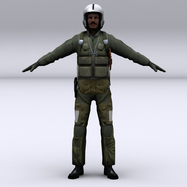 american fighter pilot 3d 3ds - Fighter Pilot character... by file404