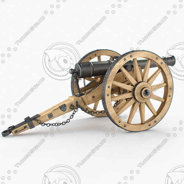 3d model field cannon - Field cannon... by PlastyForma