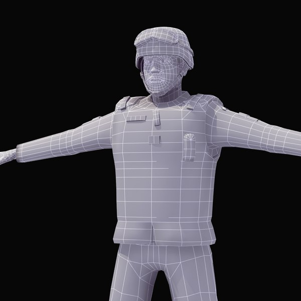 3d army soldier model - Army Soldier... by ES3DStudios