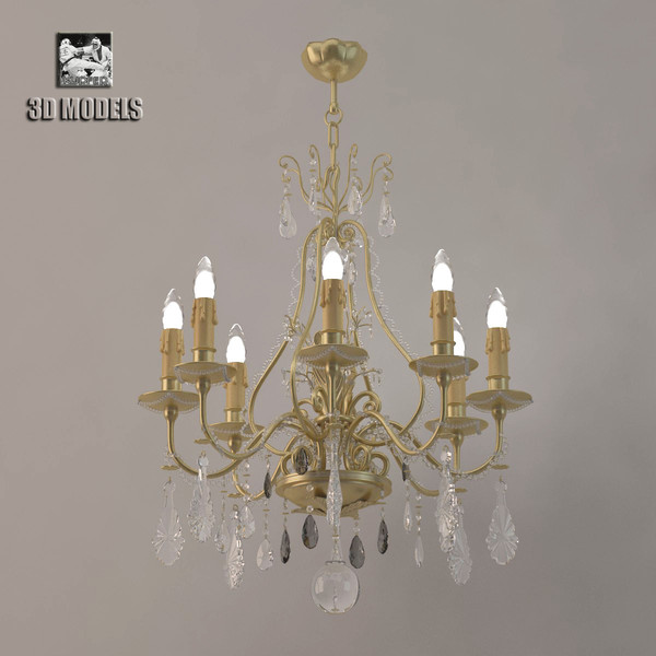 chandelier lamp 3d model - lustra Banci... by kupfer