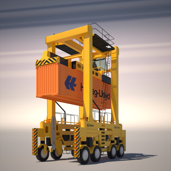 straddle carrier 3d model - Straddle Carrier Kalmar... by ArqArt3D