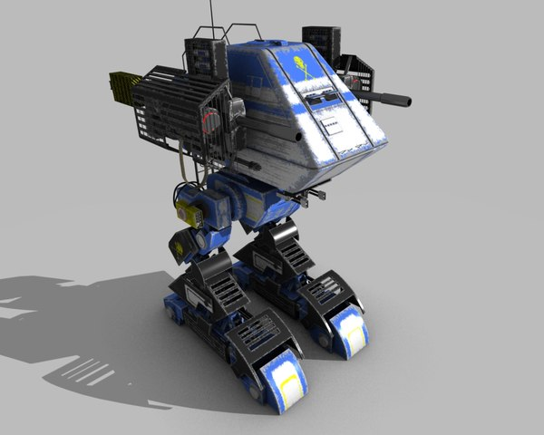 futuristic mech 3d obj - Death Walker Mech (Blue)... by Hundred