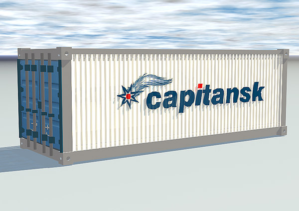 3d model of sea container