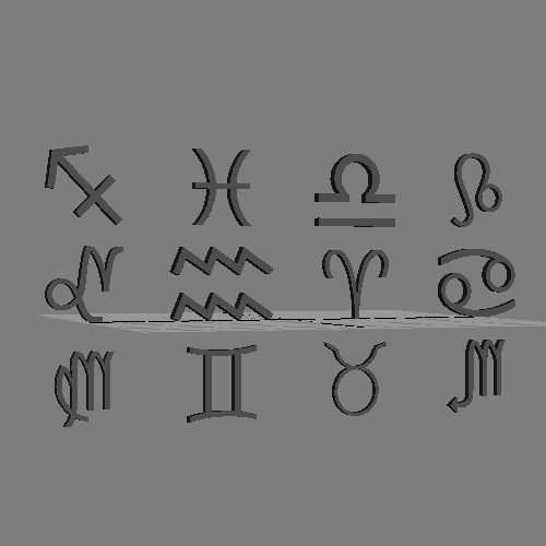 3d zodiac signs loaders set model - Zodiac signs preloaders set... by preloaders