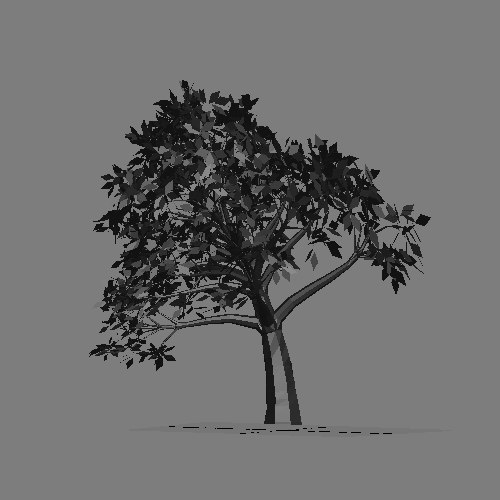 tree wind 3d model - Tree on wind preloader... by preloaders