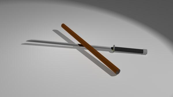 3d model of katana