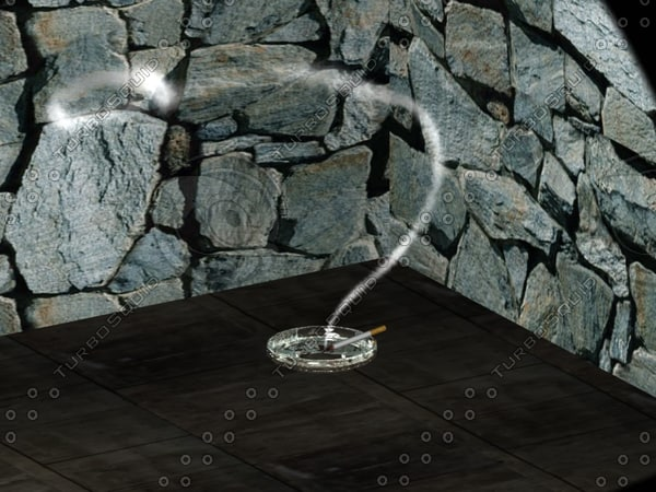 3d cigarette smokes model