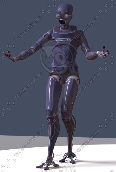 3d servoid futuristic servant - Servoid... by aristarch
