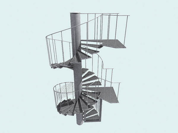 Spiral fire escape