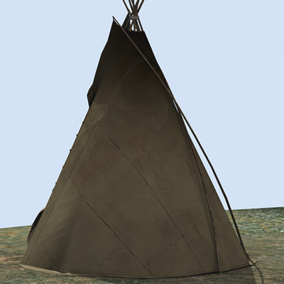 north american teepee 3d max - Teepee... by aristarch