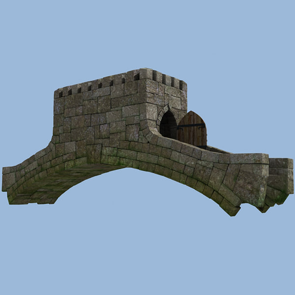 3ds max medieval tower bridge