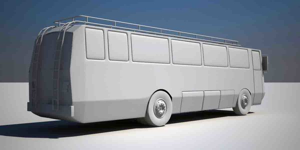 3d model realistic bus - Bus 2012... by LSDhillon