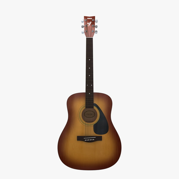 acoustic guitar yamaha f310 3d 3ds