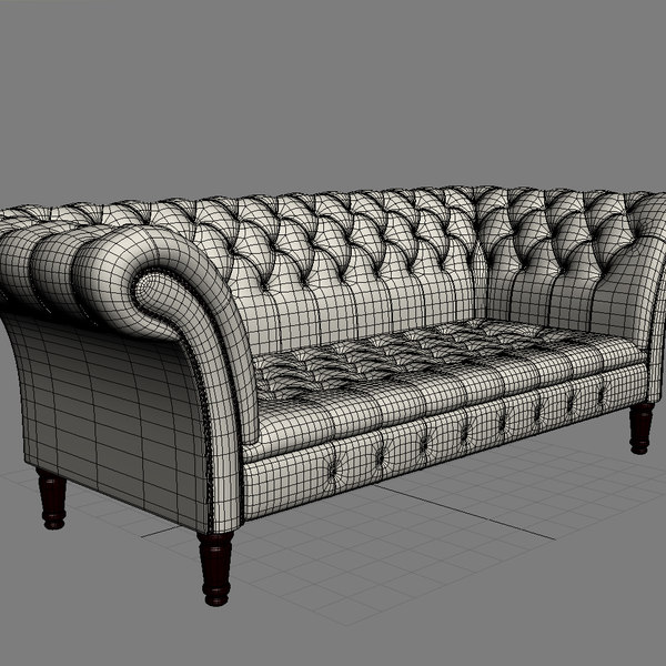 chair sofa armchair 3d max - Chesterfield The Durham Armchair&Sofa... by joker1979