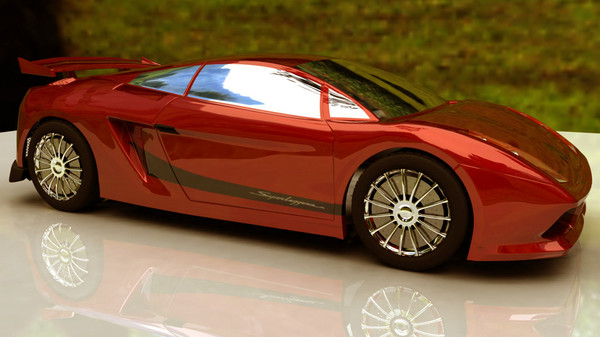 hi lamborgini car 3d model