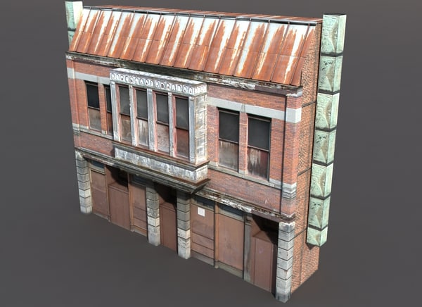 Derelict House Low Poly