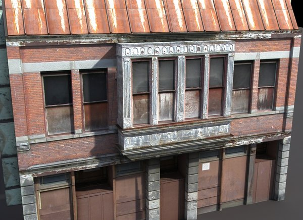 derelict building exterior ma - Derelict House Low Poly... by cerebrate