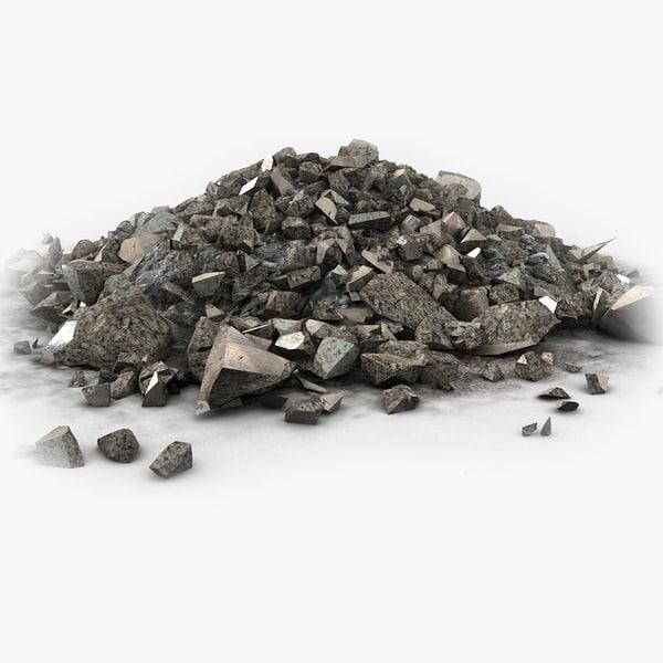 Stone Rock Pile Debris