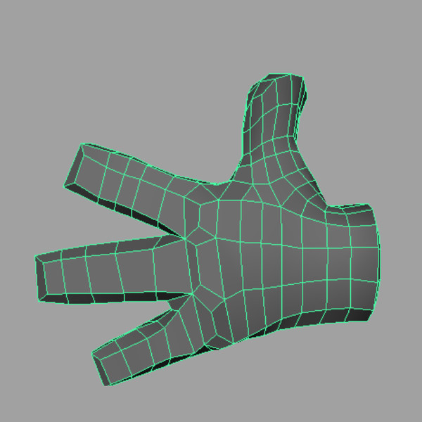 cartoon hand thumbs 3d obj - Thumbs Up Cartoon Hand... by bluefrog77