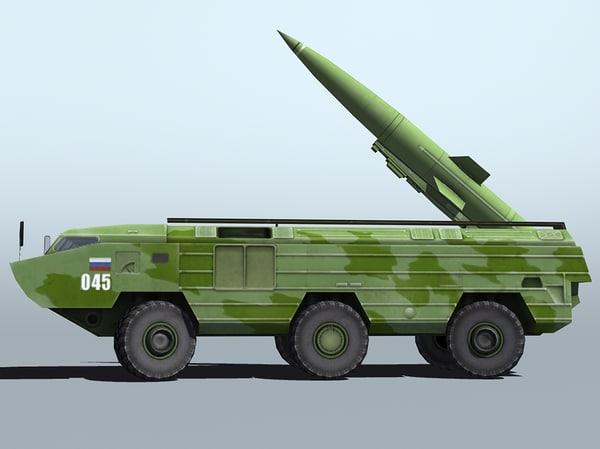 3d model soviet 9k79 tochka tochka-u